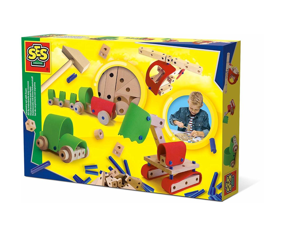 Детска играчка за сглобяване - СЕС - Дърводелски комплект колички