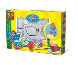 Детска играчка за рисуване и оцветяване - СЕС - Оцвети сервиз за чай