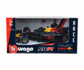 Bburago Race - Метална кола Aston Martin Red Bull Racing 1:43