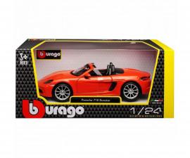 Колекционерски модели Bburago Plus - модел на кола 1:24 - Porsche 718 Boxter