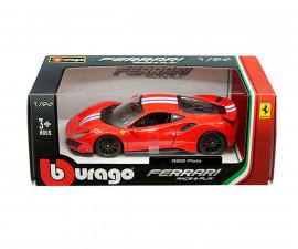 Колекционерски модели Bburago Ferrari - модел на кола 1:24 - Ферари 488 PISTA