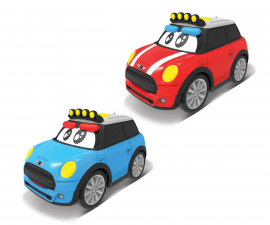 Burago Junior колички - Пластмасова количка Mini Cooper с батерии, асортимент