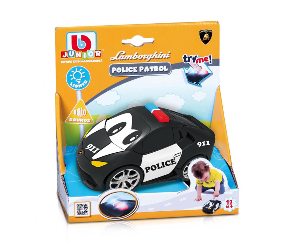 Burago Junior колички - Пластмасова полицейска количка Lamborghini с батерии