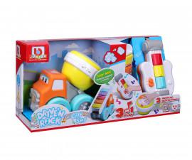 Коли, камиони, комплекти;Строителни машини;Музикални играчки Bburago Junior 16-89034