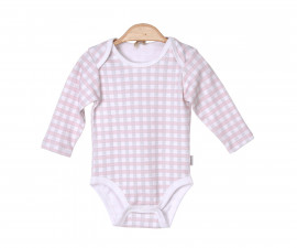 Бебешко боди с дълъг ръкав Kitikate, момиче, розово, 1-12 м.