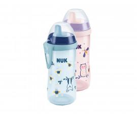 Чаша за пиене с твърд накрайник Nuk Kiddy Cup, Glow in the Dark, 300 мл, 12м+, асортимент 10255541