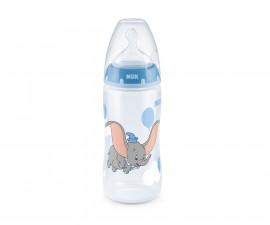 Бебешко шише за вода Нук First Choice Dumbo, 300 мл, силикон, 6-18 м