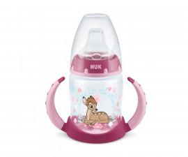 Бебешко шише за вода Нук First Choice Bambi, 150 мл, силиконов накрайник за сок