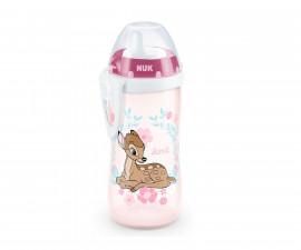 Бебешко шише за вода Нук Kiddy Cup Bambi, 300 мл, с твърд накрайник, 12м