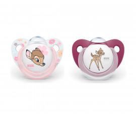Бебешки залъгалки силикон Nuk Bambi 0-6м, 2 броя