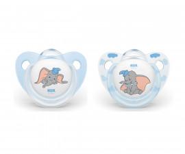 Бебешки залъгалки силикон Nuk Dumbo 0-6м, 2 броя
