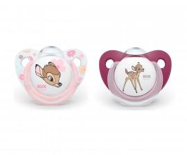 Бебешки залъгалки силикон Nuk Bambi 6-18м, 2 броя