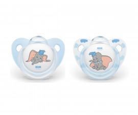 Бебешки залъгалки силикон Nuk Dumbo 6-18м, 2 броя
