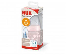 Шише със силиконов биберон Nuk РР Termo Control, Rose, 150 мл 10743924