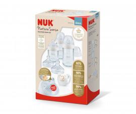 Сет стъклени шишета Nuk Nature Sense TC, със силиконов биберон, 0-6м 10225259