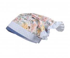 Лятна шапка кърпа Maximo, синя, цветя, асортимент 13400-081100