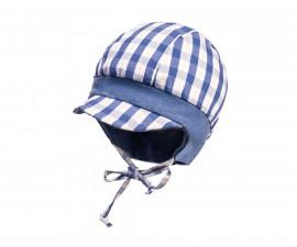 Лятна шапка Maximo, каре синя, асортимент 95500-037600