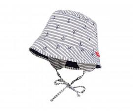 Лятна шапка Maximo, сива котвички, UPF30+, асортимент 05500-053400