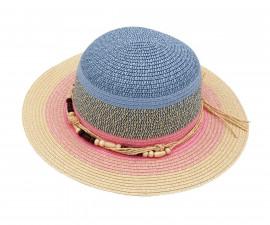 Лятна шапка капела с декорация Maximo, синьо/розова, асортимент 03523-929476