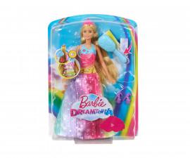 Кукла Barbie - Принцеса с вълшебна четка за коса