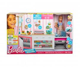 Детска играчка за момиче - Kухнята на Барби със светлини и звуци