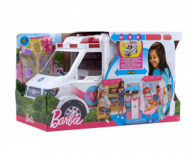 Детска играчка - Барби, игрален комплект с линейка - мобилна клиника