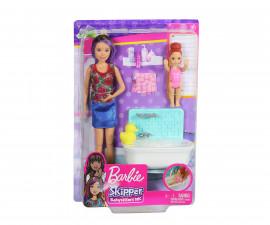 Комплект за игра Барби детегледачка - време за баня