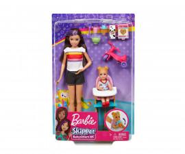 Комплект за игра Барби детегледачка - време за хранене