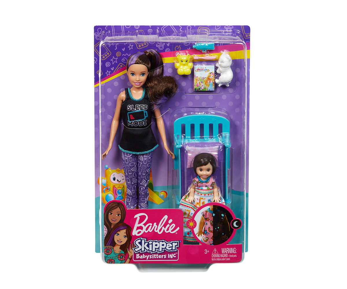 Комплект за игра Барби детегледачка - време за сън