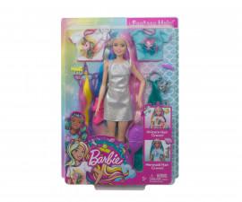 Комплект за игра Барби с блестяща дълга коса