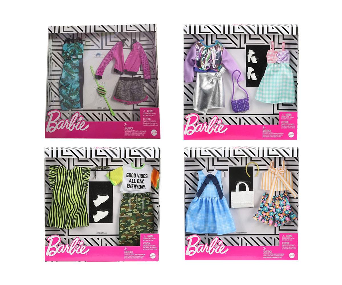 Кукла Barbie - Двоен комплект модни дрехи, асортимент