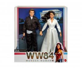 Детска играчка за момиче кукла Barbie - Колекционерска кукла Жената чудо 1984: Даяна Принс и Стив Тревър