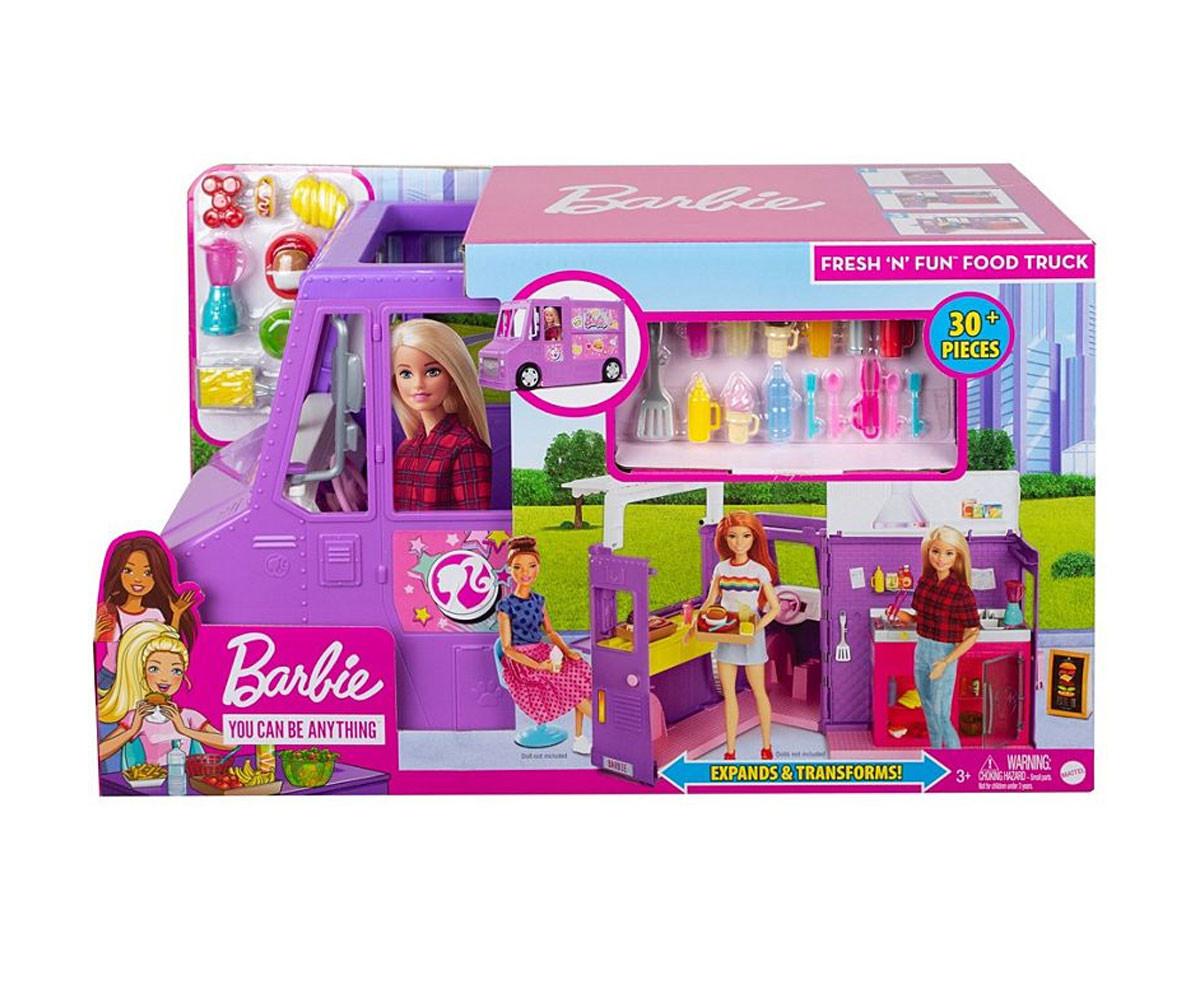 Детска играчка за момиче кукла Barbie - Комплект камион за приготвяне на храна
