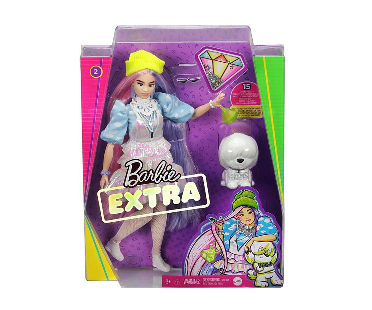 Детска играчка за момиче кукла Barbie - Екстра мода, с двуцветна коса