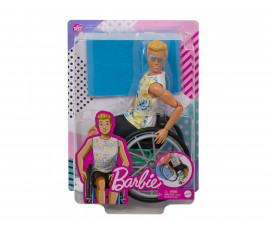 Детска играчка модни кукли Barbie GWX93 - Кен в инвалидна количка