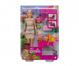 Детска играчка модни кукли Barbie GHV92 - Комплект на разходка с 2 кученца
