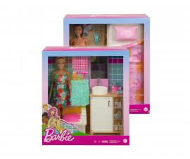 Игрален комплект кукла Barbie - Тематична стая с кукла, асортимент GTD87
