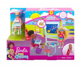 Игрален комплект кукла Barbie - Комплект Челси с аксесоари: На училище сред природата GHV80