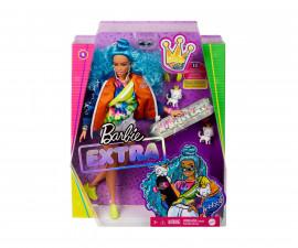 Игрален комплект кукла Barbie - Екстра: Синя къдрава коса GRN30