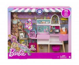 Игрален комплект кукла Barbie - Магазин за домашни любимци GRG90