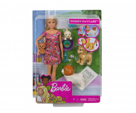 Модна кукла Барби - Комплект Барби с кученца