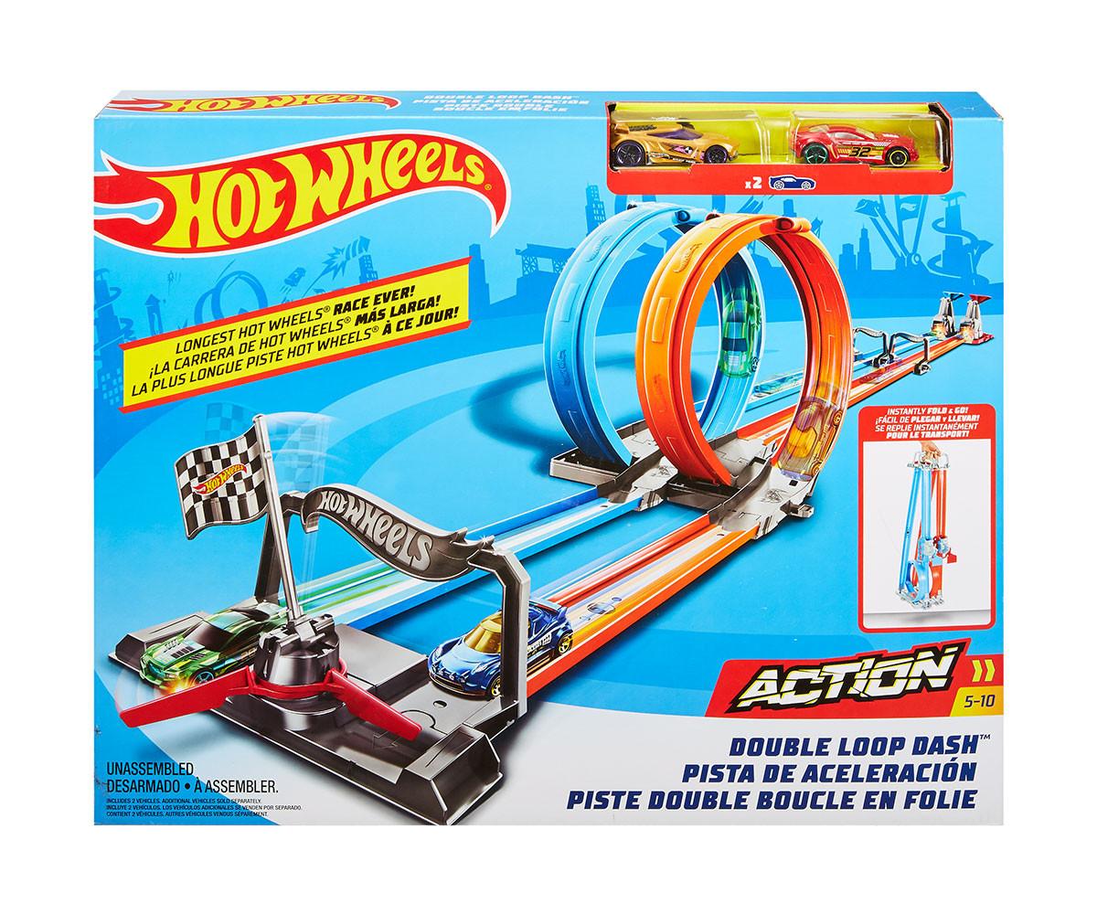 Hot Wheels - Игрален комплект двоен лупинг | КОМСЕД
