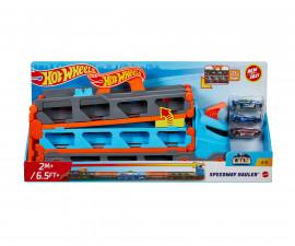 Игрален комплект за деца Hot Wheels - Високоскоростен транспортьор с 3 колички