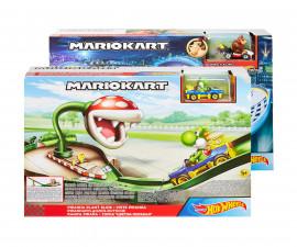Детска играчка за момче Hot Wheels - Супер Марио колички, комплект писта с количка GCP26