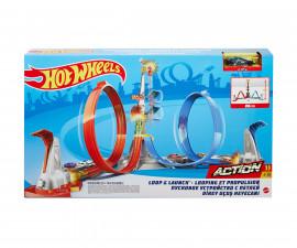 Игрален комплект за деца Hot Wheels - Лупинг с количка GRW39