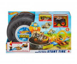 Игрален комплект за деца Hot Wheels - Голямо бъги Monster Trucks, автомобилна гума с едно бъги и една количка GVK48