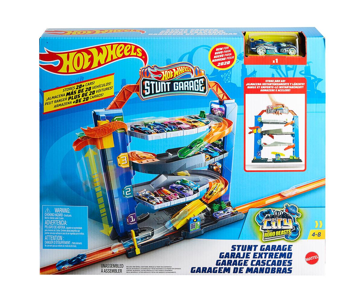 Детски комплект за игра гараж с количка Хот Уилс