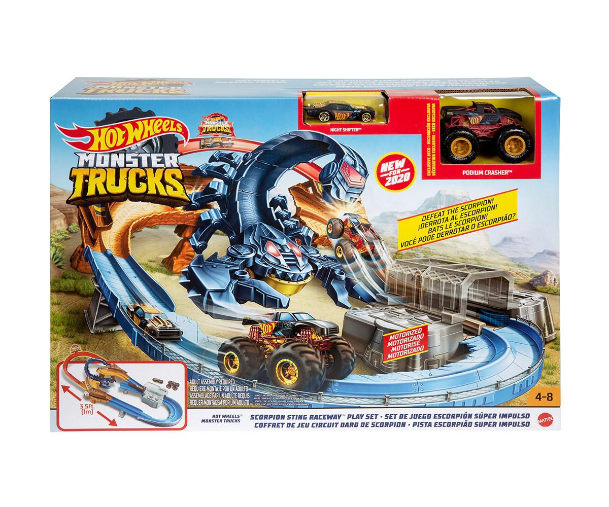 Hot Wheels - Monster Truck: Скорпион с едно бъги и една количка
