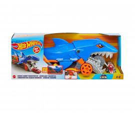Игрален комплект за деца Hot Wheels - Транспортьор акула с количка GVG36