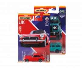 Колекционерски колички за момчета Matchbox - Най-добрите автомобили на Великобритания, 1:64 GWL22